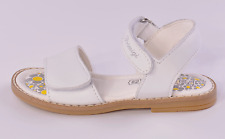 Primigi Fuji Infant Girls White Leather Riptape Sandals UK 7.5 EU 25 RRP £36