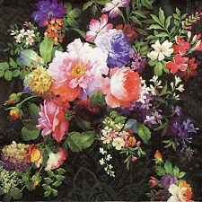 4x Paper Napkins -Roses on Velvet- for Party, Decoupage
