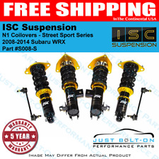 ISC Suspension N1 Coilovers Street Sport fits 2008-2014 WRX Only - S008-S