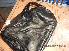 Genuine BLACK  Leather Messenger Sling Cross Body Chest Pack Shoulder Bag..NEW
