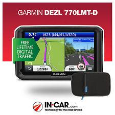 NUOVO GARMIN DEZL 770 lmt-d TRUCK GPS SAT NAV mezzi pesanti Lifetime mappe e traffico aggiornamenti
