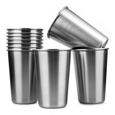 10PCS 16 Ounce Stainless Steel Small Drinking Cup Beer Wine Glass Set Of 10