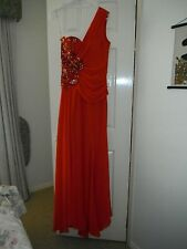 Designer Tiana Ladies Red One Shoulder Evening/Formal Gown Size 12