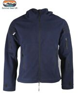 Navy Blue Recon Tactical Fleece Hoody Military Forces Airsoft Army Security