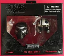 STAR WARS THE BLACK SERIES, HELMETS OF KYLO REN & POE DAMERON -NEW!