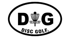 Disc Golf Vinyl Sticker Decal DG Oval