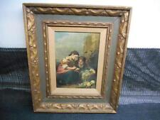 Antique Geldzahlern Print Picture Wall Hanging Ornate Frame Illinois Moulding Co