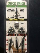 Slick Trick Alcatraz bladelock Broadheads 85 Flight  Archery  FREE SHIPPING