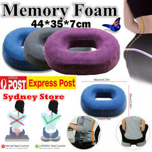 Coccyx Pain Relief Memory Foam Comfort Donut Ring Chair Seat Cushion Pillow Pad