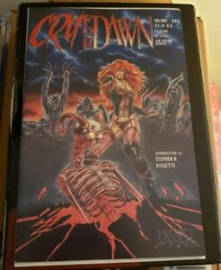 Cry For Dawn 1 1st Print 3xSigned & sketch Linsner Monks patrick 1st App dawn NM