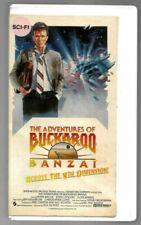 The Adventures of Buckaroo Banzai (VHS, 1990) Peter Weller John Lithgow Campy