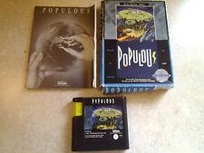 Sega Genesis Populous Game, Complete, Electronic Arts