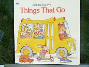 Things That Go by Richard Scarry Golden Books Paperback 1987