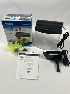 Aqueon MiniBow 1 Desktop Aquarium Kit 1 Gal + EXTRAS!