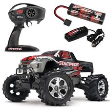 Traxxas Stampede 4X4 XL-5 RTR RC Truck SILVER w/TQ 2.4GHz & ID Battery! 67054-1