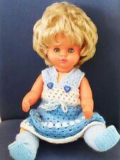 Niedliche Liss Baetz Puppe 45 cm LB Häkel kleid Handarbeit gemarkt LB 16 50