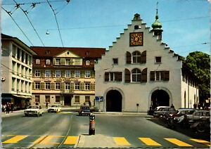 Switzerland St Gallen Waaghaus Weight House Postcard used with Stamps 1966