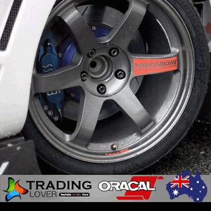 4 x RED TE37SL wheels sticker logo suit supra s2000 s15 gtr skyline 370z rays