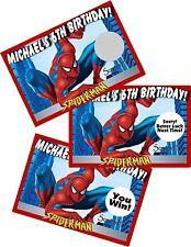 SPIDER-MAN SPIDERMAN SCRATCH OFFS PARTY GAMES GAME CARDS BIRTHDAY FAVORS