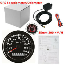 85mm Universal 9~32V Auto Car Digital GPS Speedometer IP67 Antifogging Black