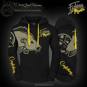 Hotspot Design Hoodie Fishing Mania Carpfishing, Angel-Sweater, Angler-Pullover