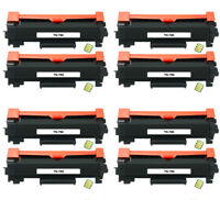 8Pk TN-760 W CHIP Toner Cartridge for Brother L2370DW L2350DW L2370DW L2710DW XL