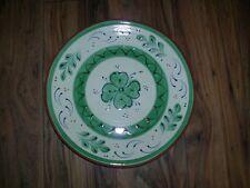 large marks & spencers decorative  green terracotta fruit bowl shallow dish