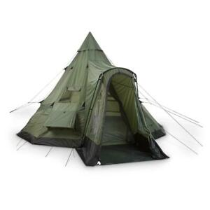 New Deluxe Teepee Tent For Up To 8 People, Green 18' x 18'