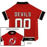 New Jersey Devils NHL Pets First Licensed Dog Pet Hockey Jersey Sizes XS-XL