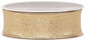 The Gift Wrap Company Wired Edge Metallic Glitter Ribbon, Gold (18310-09)