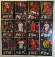 2020/21 Match Attax UEFA Champions League - Full Superstars Sub-Set (12 cards)