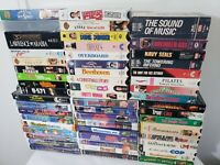 VHS Video Movie Huge Lot 54 Mixed Comedy Action Drama Thriller Disney 80's/90's