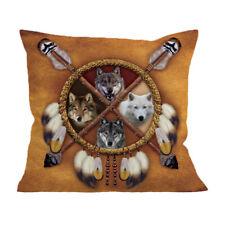 Wolves Throw Pillow Covers Home Pillowcase Wolf Square Decor Soft Cushion Cush