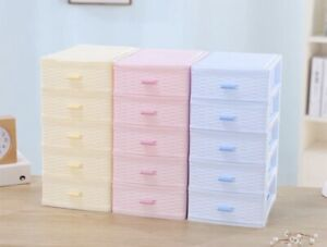 Kids 2/3/4/5 Layers Desk Drawer Cosmetic Jewelry Organizer Container Storage Box