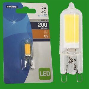 8x 2W G9 Capsule LED 200 lumen, Instant On Light Bulb Halogen Replacement 2700K