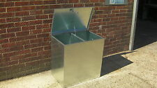 Horse Feed Bin 2 Compartment Animal/Livestock Food Storage Galvanised Steel (2c)