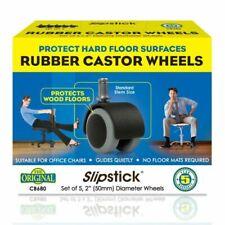 "Slipstick CB680 2"" Office Chair Caster Wheels - Black/Grey, Set of 5"