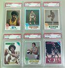 (6) 1973-74 Topps Basketball - PSA 9 LOT - ALL PSA 9
