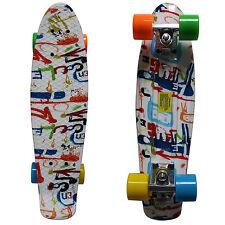 Rimable 22 Inch Penny Style Board Mini Cruiser Retro Skateboard Graffiti Graphic