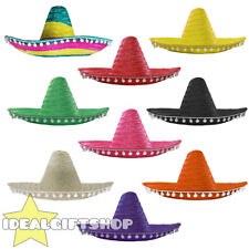 MEXICAN SOMBRERO PACK WITH POM POM EDGE WHOLESALE LOT WESTERN CHOOSE COLOUR