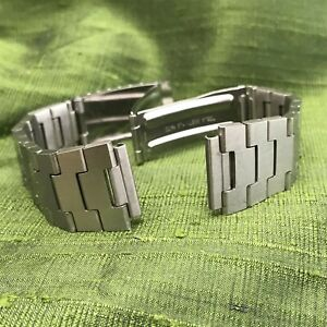 """nos 11/16"""" 17.25mm Stainless Steel LCD LED 1970s Vintage Watch Band"""
