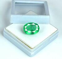 Natürlicher Oval 8-10 Karat Zambian Green Smaragd Edelstein AGI zertifiziert