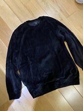 USED COS jumper sweatshirt velvet black Small S