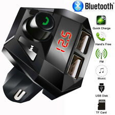 Car Kit Handfree Wireless Bluetooth Fm Transmitter Mp3 Player Dual Usb Charger