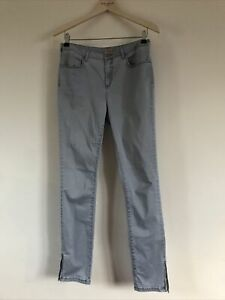 Phase Eight Pale Blue Soft Skinny Slim Stretch Zip Detail Jeans UK 10 US 6