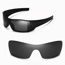 New Walleva Black Replacement Lenses For Oakley Batwolf Sunglasses