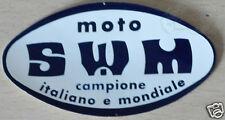adesivo originale dell' epoca MOTO SWM 17x9 cm