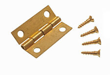 PAIR OF ( 2 ) MINI BRASS JEWELRY BOX HINGE 25MM WITH PINS 23A3