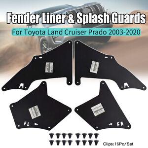 4 Mud Liner Splash Flaps Fender Seals Inner For Toyota Land Cruiser Prado 03-20