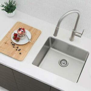 21 inches Undermount or Drop-in Kitchen Sink with Strainer